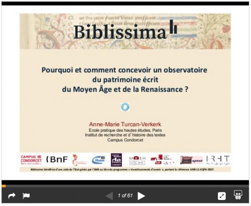 Pourquoi et comment concevoir un observatoire du patrimoine écrit du Moyen Âge et de la Renaissance ? Biblissima