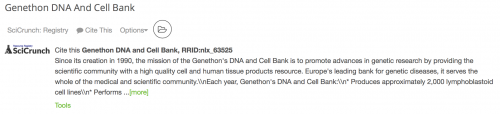Genethon DNA and Cell Bank, RRID:nlx_63525